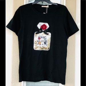 Miao Miao black tee shirt